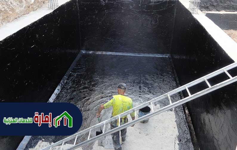 طريقة عزل خزانات المياه الخرسانية